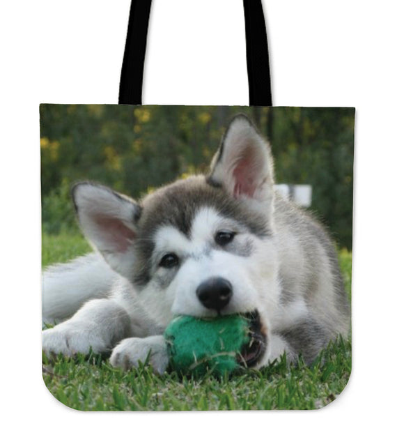 Malamute Puppy Tote Bag