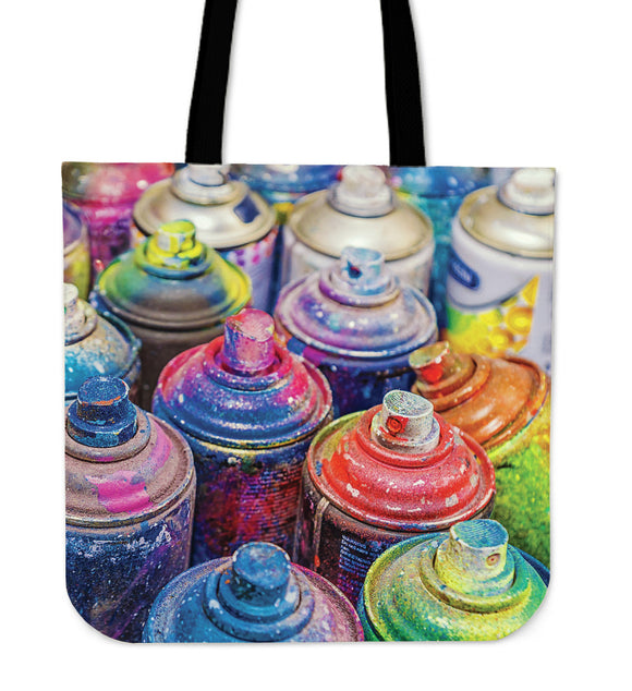 Graffiti Paint Canvas Tote Bag