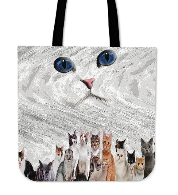 Cat crew Tote Bag
