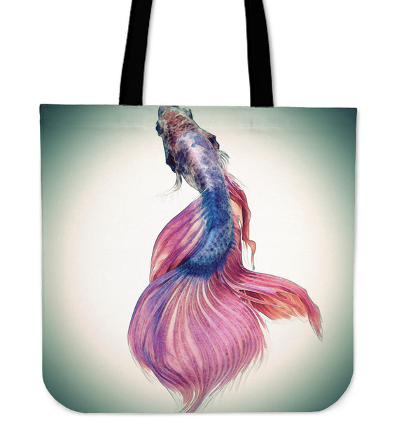 Japanese Fighting Fish Tote Bag