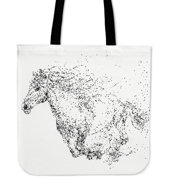 Galloping Horse Canvas Tote Bag