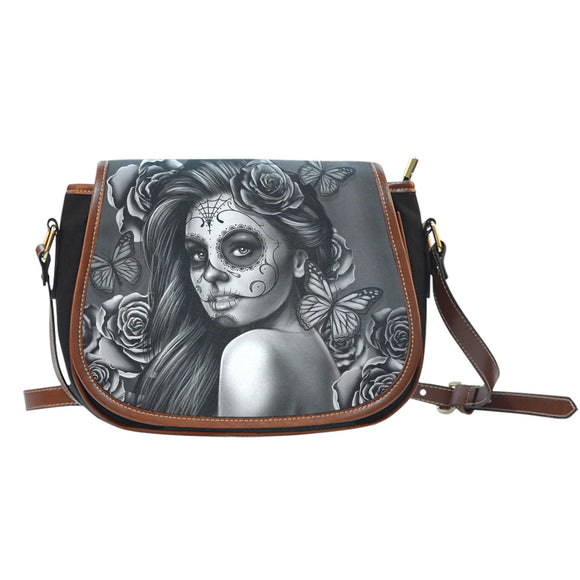 Saddle Bag Calavera (Gray)