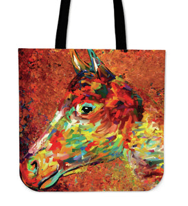 Surreal Horse Art Cloth Tote Bag