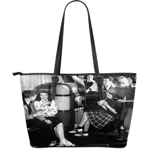 Love The Jukebox Large Leather Handbag