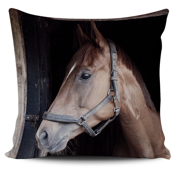 Horse on the Farm Pillow Cover