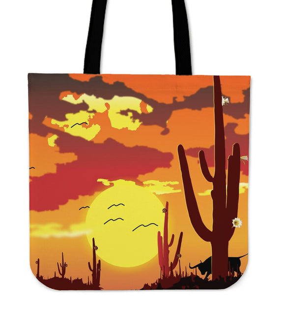 Desert Sunset Canvas Tote Bag