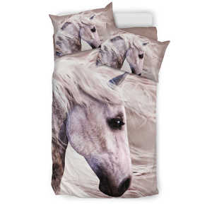White Horse Bedding Set