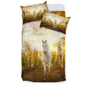 Three White Horses - Bedding Set
