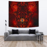 Hamsa Hand of Goddess Tapestry