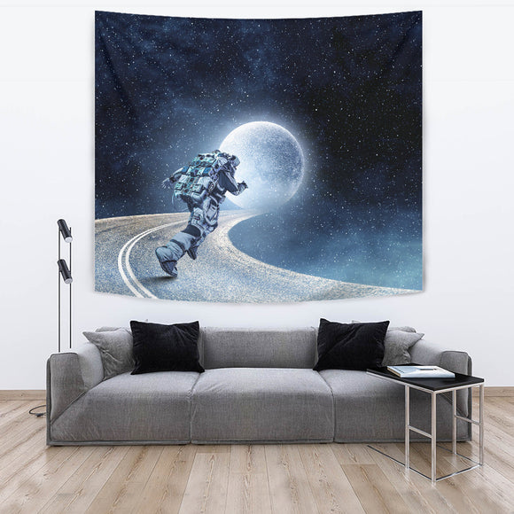 Running Space Man Tapestry