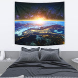 Galaxy and Earth Tapestry