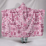 Nurse Tools Hooded Blanket-Pink
