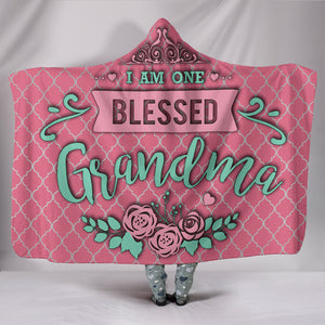 Blessed Grandma Hooded Blanket