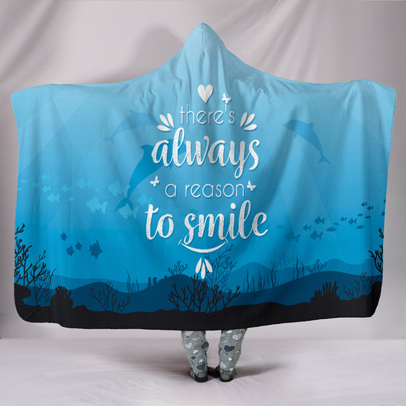 Dolphin Love Hooded Blanket