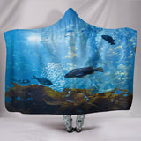 Covered By The Sea Hooded Blanket
