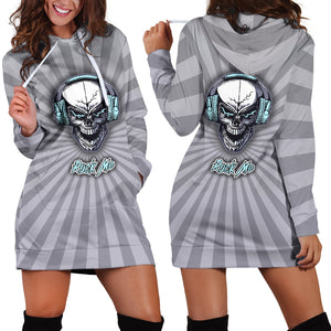 Rock Me Hoodie Dress For Skull Lovers and Music Freaks