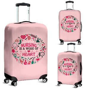 NURSING IS A WORK OF HEART LUGGAGE COVER