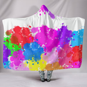 Paint Splatter Hooded Blanket