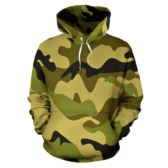 Green Camo All-Over Print Hoodie