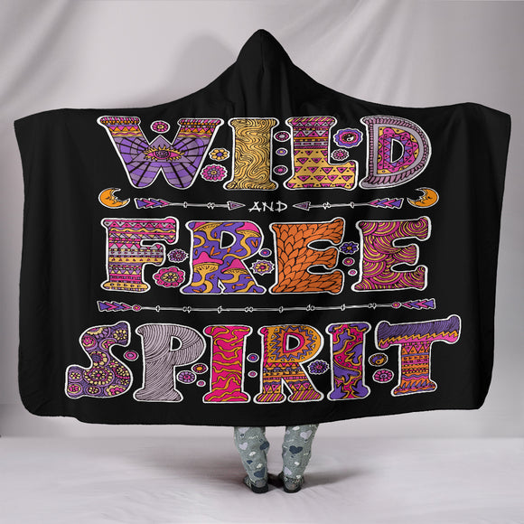Wild & Free Spirit Hooded Blanket