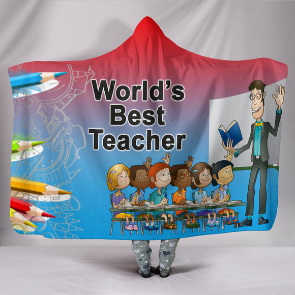 World's Best Teacher Hooded Blanket