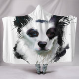 Border Collie Hooded Blanket