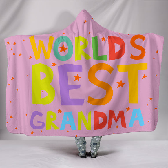Worlds Best Grandma Hooded Blanket