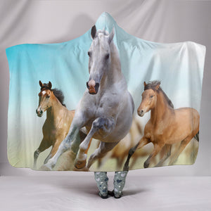 Desert Horse Hooded Blanket