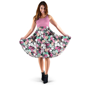 Funky Patterns in Candy 2Tone - Women's Midi Dress