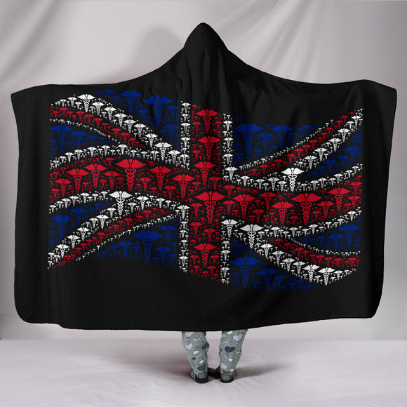 England Nursing Hooded Blanket