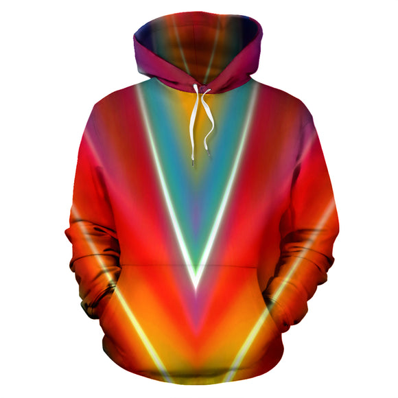 Purple and Blue Abstract Hoodie