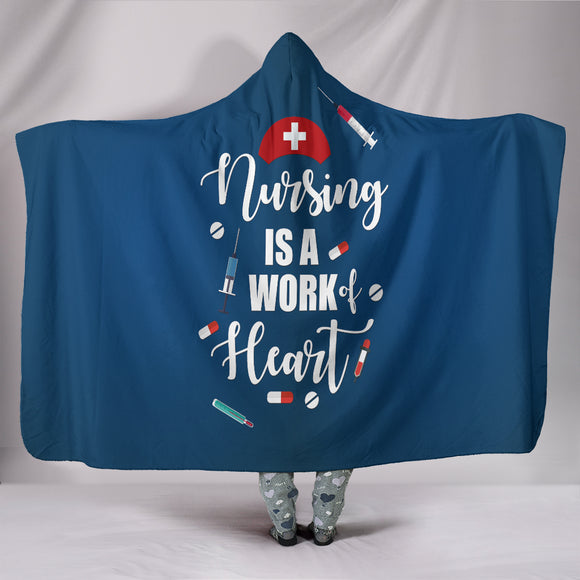Nursing Works Hooded Blanket