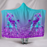 Unicorn Sparkle Hooded Blanket
