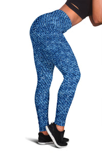 Denim Print Fashion Leggings