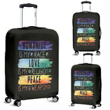Humanity Love Peace Luggage Cover