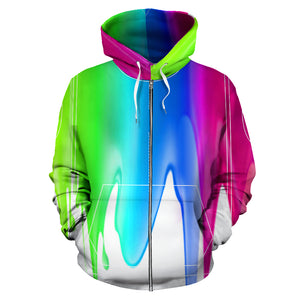 COLOR ZIP-UP HOODIE