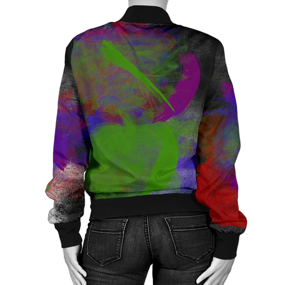 Multi Colored Women's Bomber Jacket