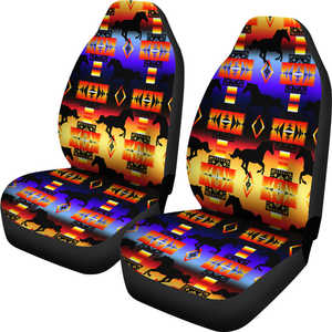 Seven Tribes Horse Horizon Car Seat Covers