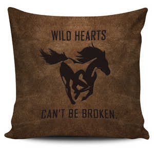 Wild Hearts Horse - Pillow Cover
