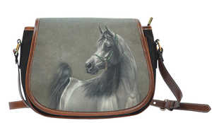 Gray Horse Saddle Bag