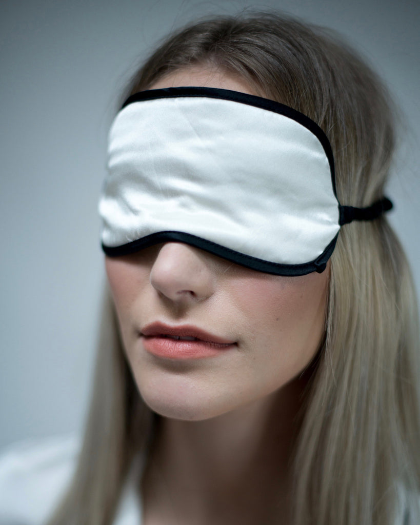 Frosted Pearl Silk Sleep Eyemask