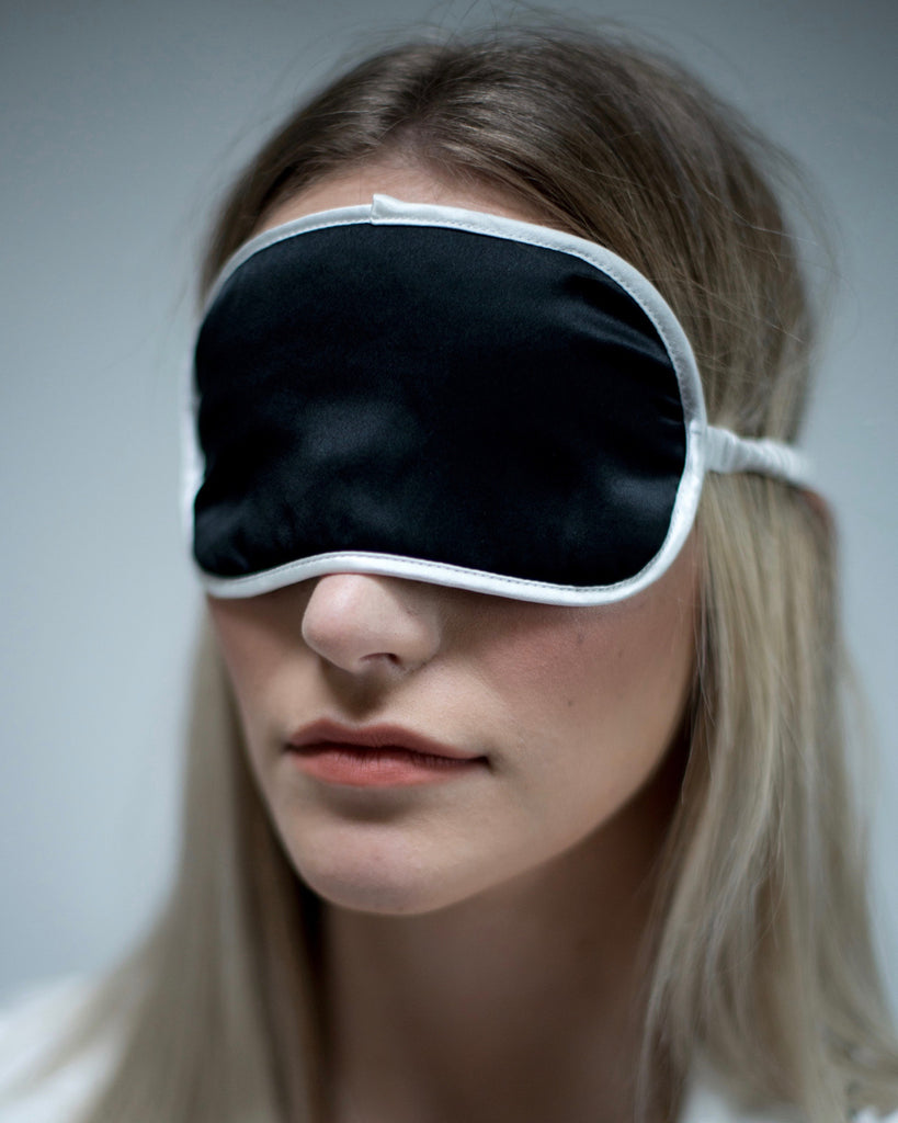 Black Onyx Silk Sleep Eyemask