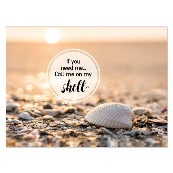 Original Beach Art - Call Me On My Shell (Taupe)