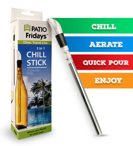 Iceless Wine Chiller Stick - Available now on Amazon!