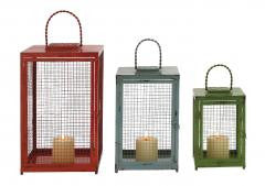 Beautiful Styled Set Of 3 Metal Candle Lanterns