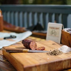 Gathered Game Wild Venison Salami - Spicy Italian 100g long box