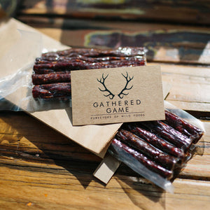 Gathered Game Wild Venison Deer Sticks - Spicy Italian