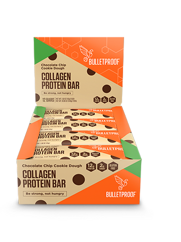 bulletproof vanilla, snack, bar, cookie dough, collagen