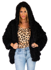 Polkadots & Moonbeams Faux Fur Jacket - Polkadots & Moonbeams LA
