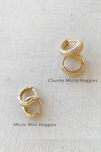 Load image into Gallery viewer, P&M Gold Micro Mini Huggie Earrings - Polkadots & Moonbeams LA